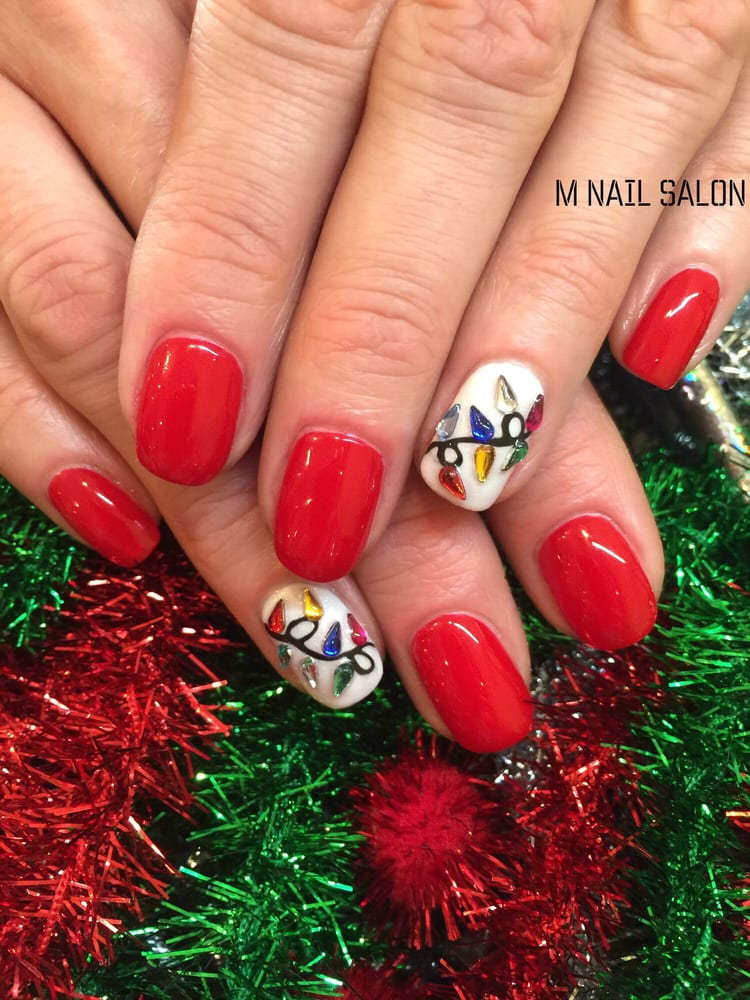 Christmas nail art designs by M Nail Salon - Yelp