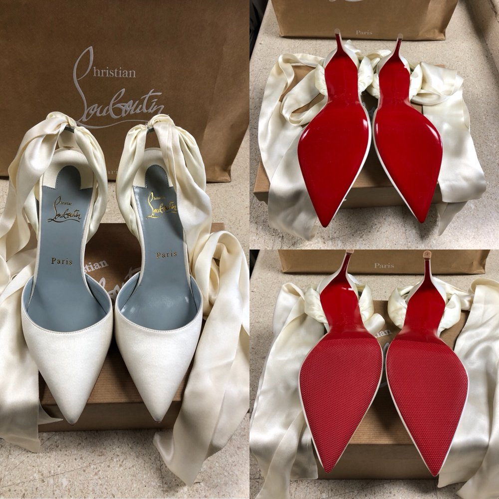 timeless design 6342d bde27 Adding red rubber sole protection for a nuce wedding shoes ...