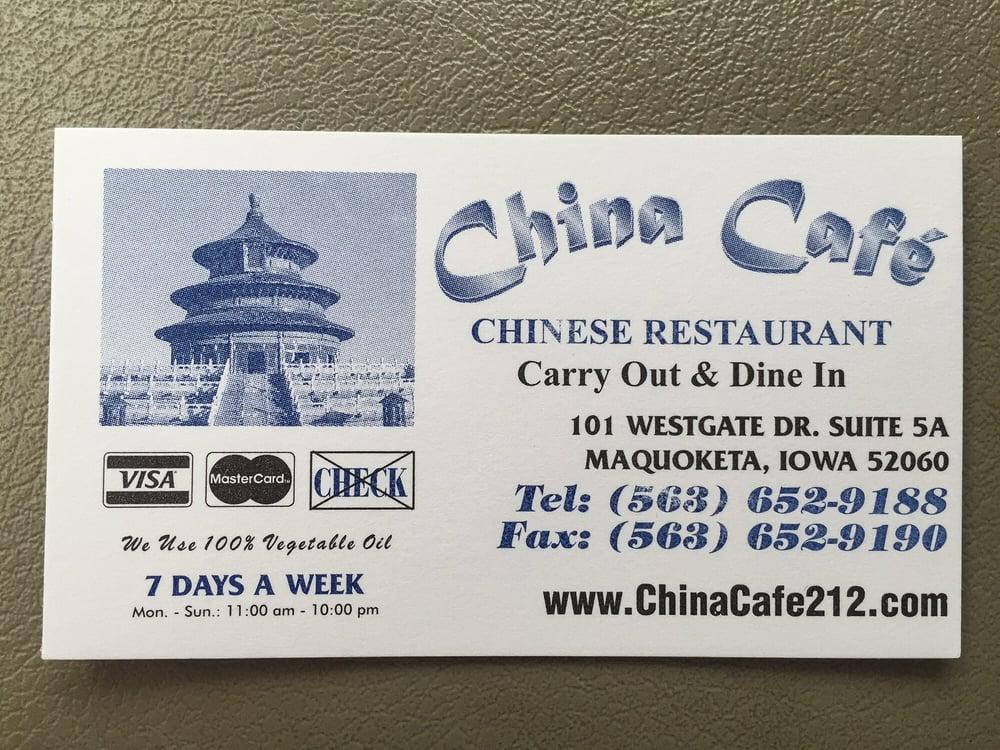 China Cafe - Chinese - 101 Westgate Dr, Maquoketa, IA - Restaurant ...