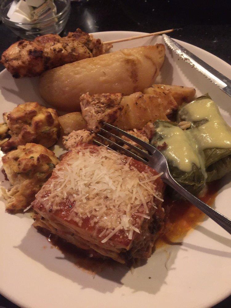 Lunch sampler minus greek salad that i demolished yelp for Acropolis cuisine