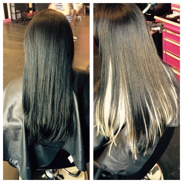 Tape Extensions To Create Peekaboo Highlights No Damage To Your Own