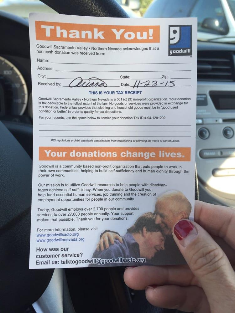 Goodwill Donation: 4810 Elk Grove Blvd, Elk Grove, CA
