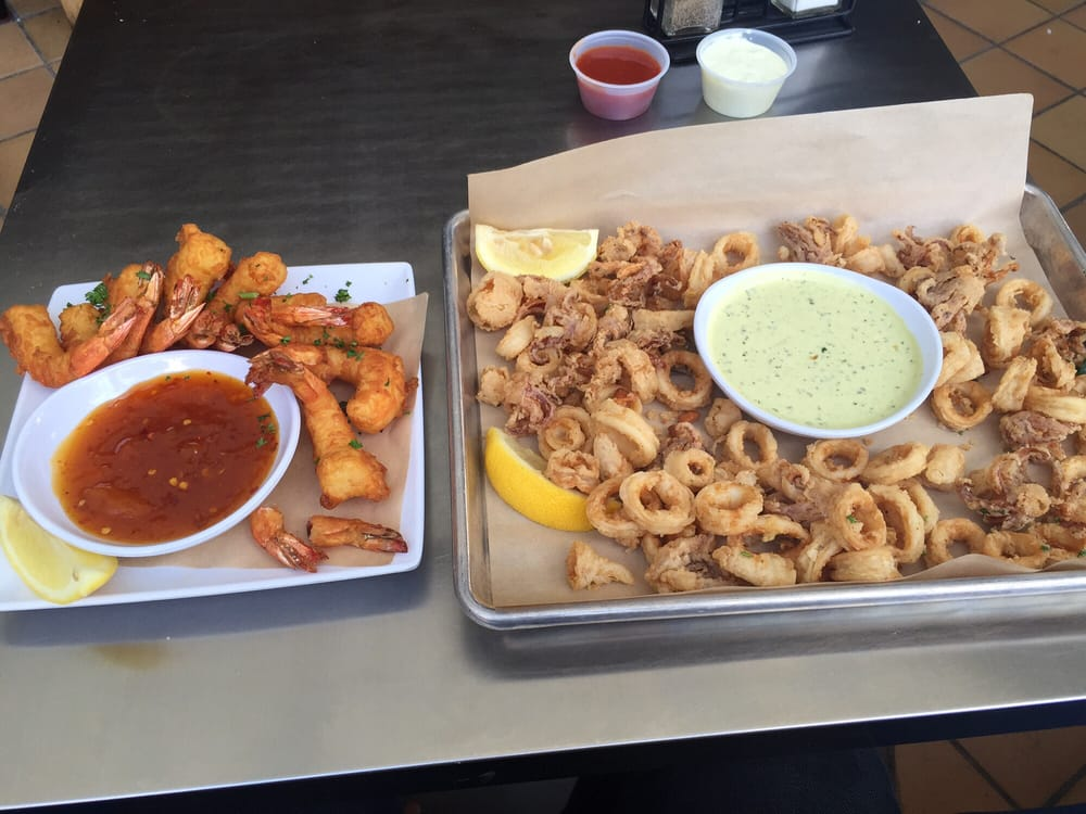 Crispy shrimp and fried calamari yelp for Malibu fish grill