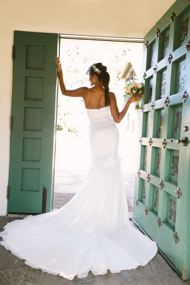 Stretch satin mermaid wedding gown san jose ca wedding for San jose wedding dresses