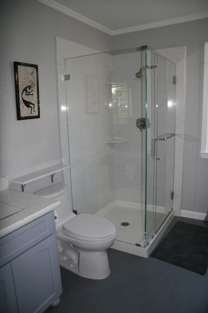 Quartz Shower Walls And 2 Sided Shower Pan Yelp