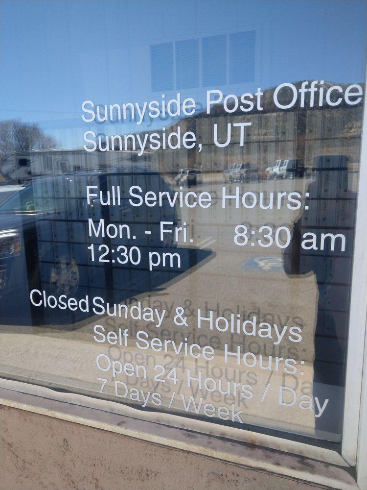 US Post Office: 1 Market St, Sunnyside, UT