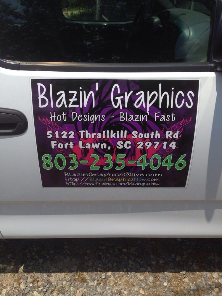 Blazin' Graphics: 5122 Thrailkill South Rd, Fort Lawn, SC