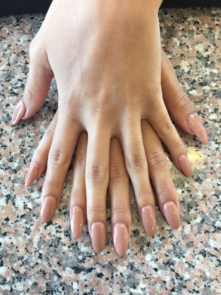 Gel Full Set-Almond Shape. Def love the nude color. - Yelp