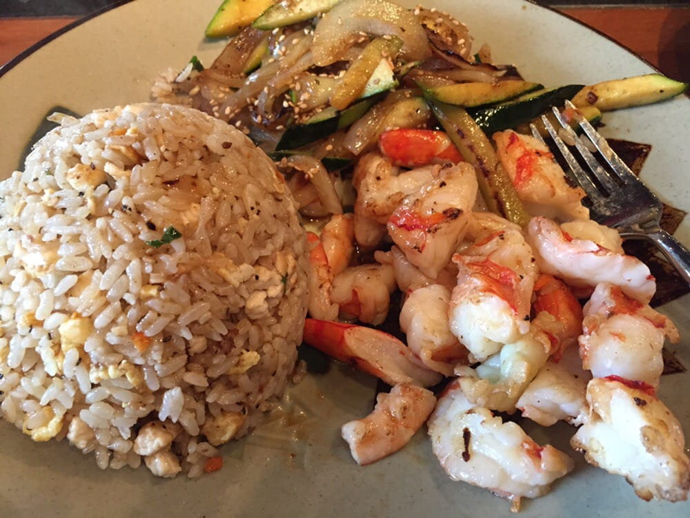 Colossal shrimp with fried rice! - Yelp
