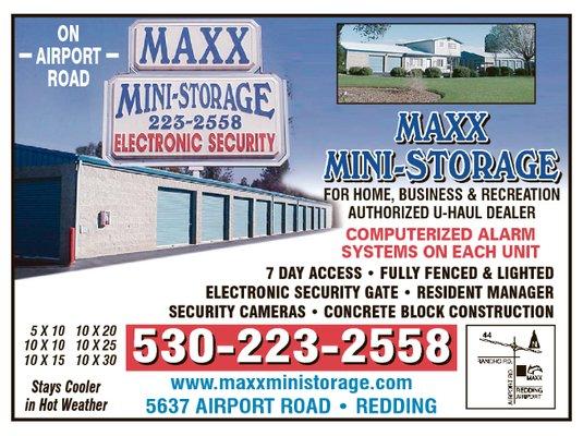 maxx mini storage 5637 airport rd redding ca warehouses self storage mapquest. Black Bedroom Furniture Sets. Home Design Ideas