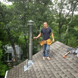 Photo Of Sunrise Roofing And Chimney   Medford, NY, United States. Dual Pipe
