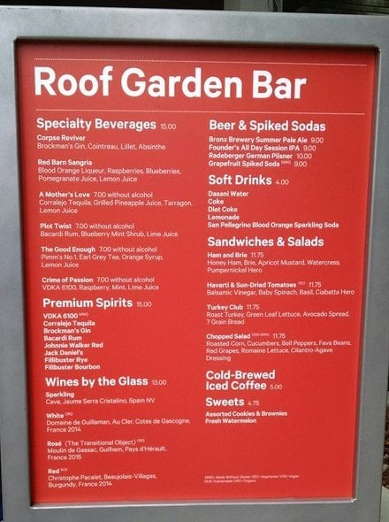 Met Roof Garden Cafe And Martini Bar New York Ny