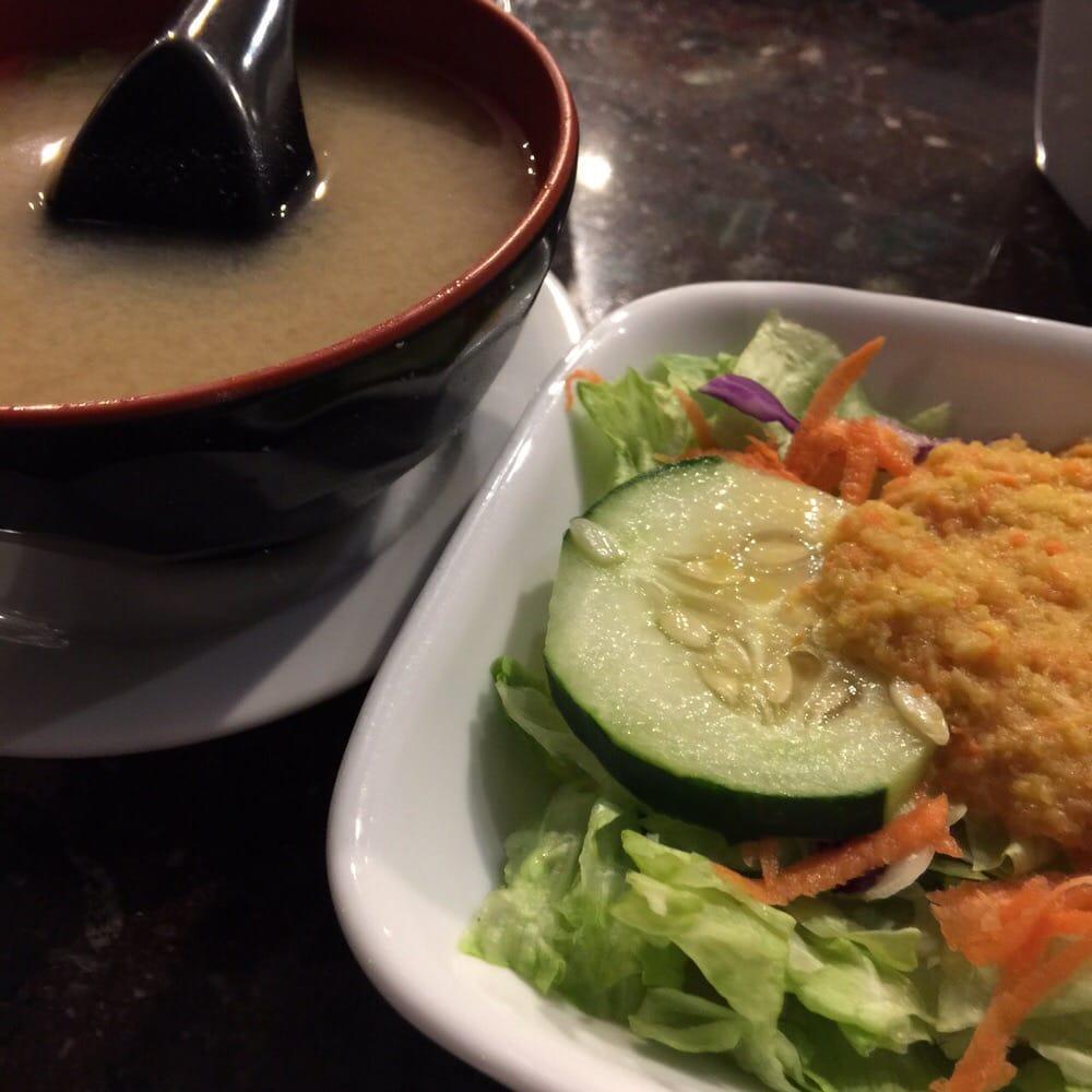 miso soup amp ginger salad yelp
