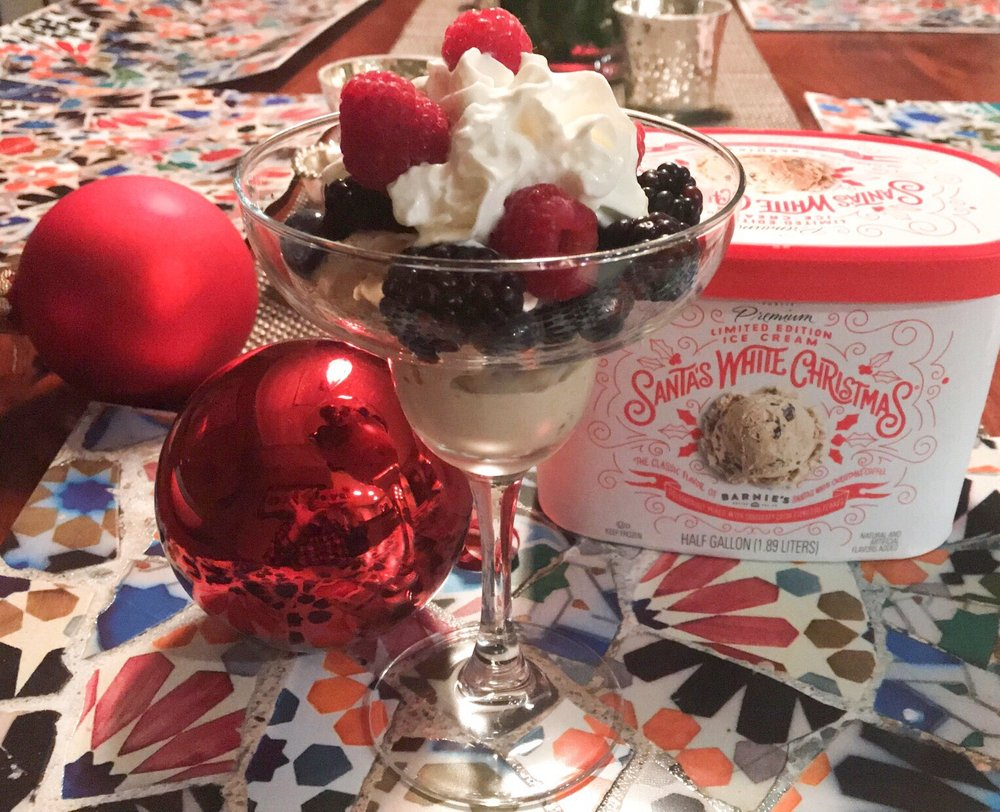 Santa\'s white Christmas limited holiday edition ice cream by Barnies ...
