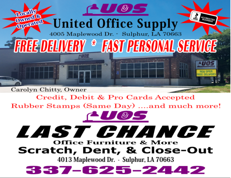 United Office Supply & Equipment: 4005 Maplewood Dr, Sulphur, LA