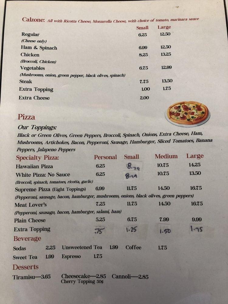 Carusos Pizza: 1501 E Main St, Mebane, NC