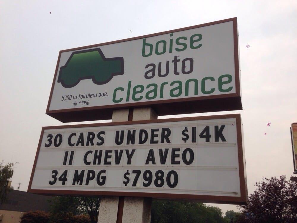 Used Car Dealerships Boise >> Boise Auto Clearance - Car Dealers - 5300 W Fairview Ave - Boise, ID - Yelp