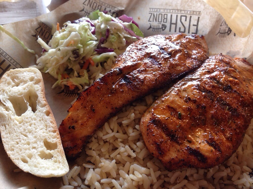 Grilled salmon with cajun seasoning yelp for Grilled fish seasoning