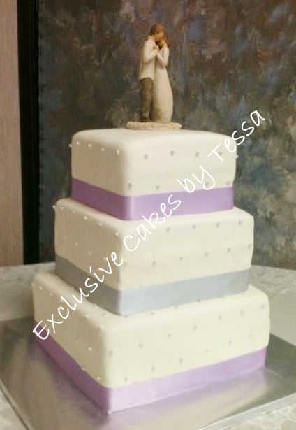 Classic 3 tier square wedding cake - Exclusive Cakes by Tessa - Yelp