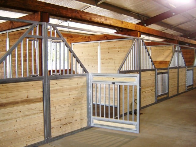 custom horse stall fronts with full tongue and groove inserts