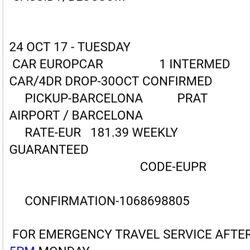 Europcar Car Rental Terminal 2 El Prat De Llobregat Barcelona