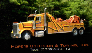 Hope's Collision & 24 Hr Towing: 1500 W Broad St, Tamaqua, PA