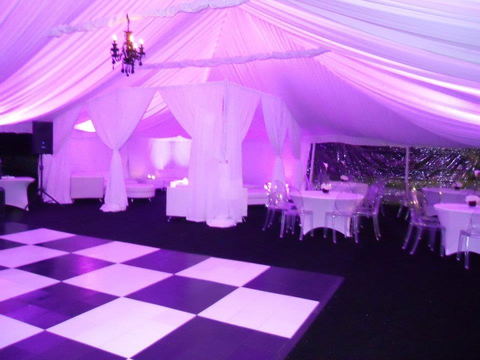 Uplighting Tent Liner Black Chandeliers Black Amp White