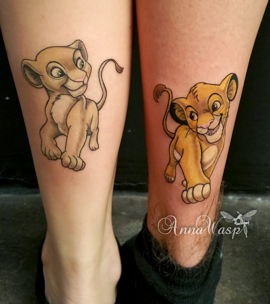 Disney realistic cartoon tattoos Lion King by artist Anna