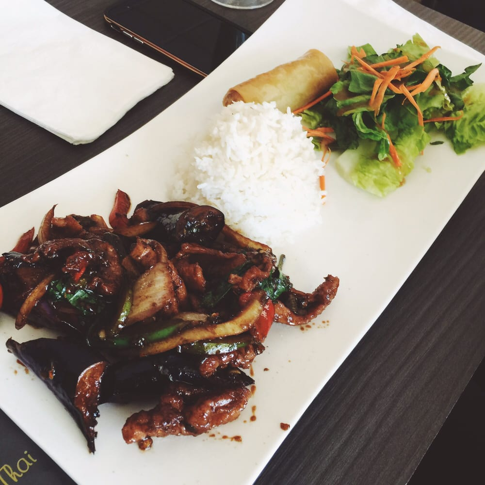 Lunch special spicy eggplant with pork yelp for Amazing thai cuisine