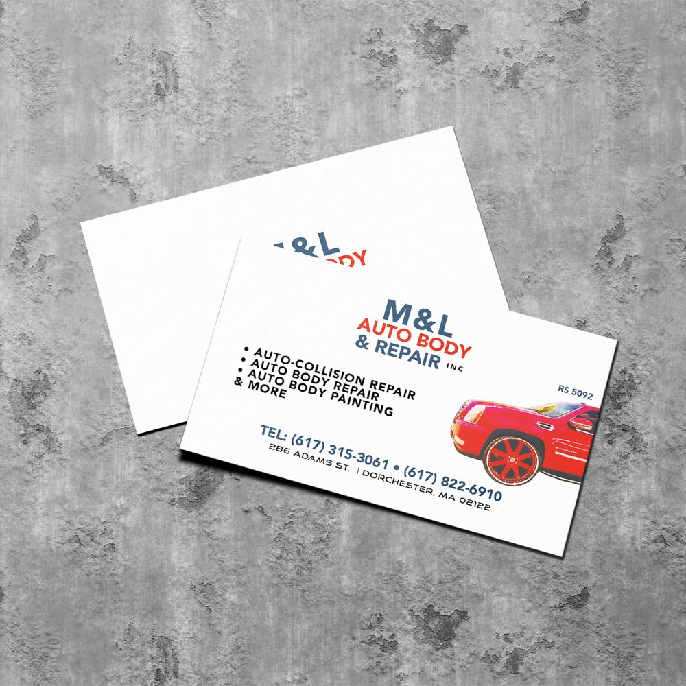 M & L Autobody - Business Card Design - Yelp