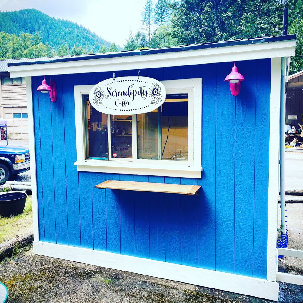 Serendipity Coffee Cart: 51668 Blue River Dr, Blue River, OR