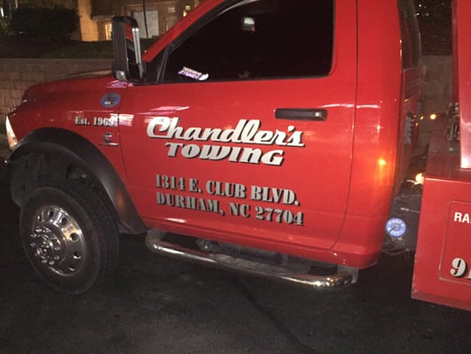 Chandler S Towing And Auto Tire Center 1314 E Club Blvd Durham Nc