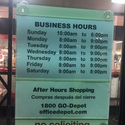 Photo Of Office Depot   Temple City, CA, United States. Saturday Close At