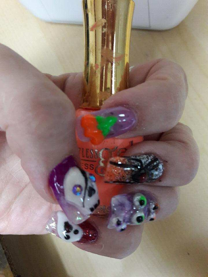 Another Custom 3d Nail Art Halloween By Andy Yelp