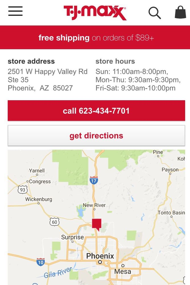 Store hours from website. - Yelp