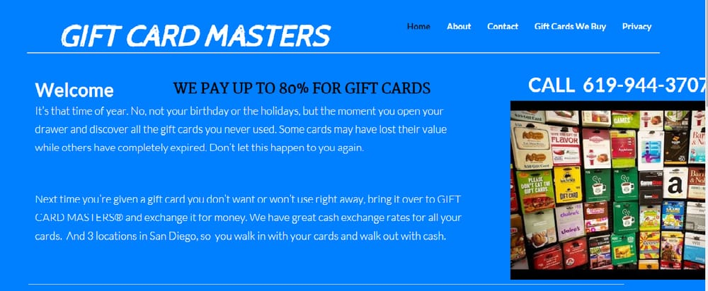 Gift Card Masters - Gift Shops - 2499 Market St, Sherman Heights ...
