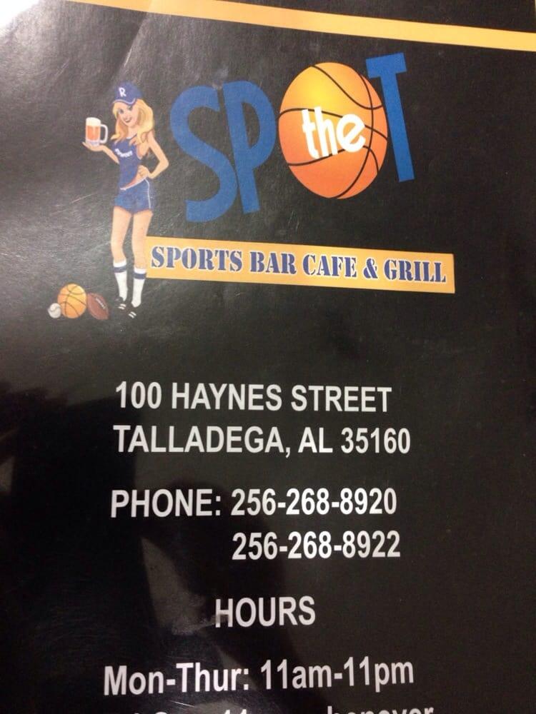 The Spot: 104 East St N, Talladega, AL