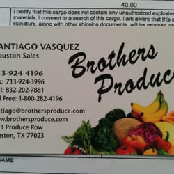 Brother's Produce Inc - 3173 Produce Row, Gulfgate/Pine