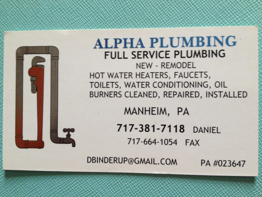 Alpha Plumbing & Water Conditioning