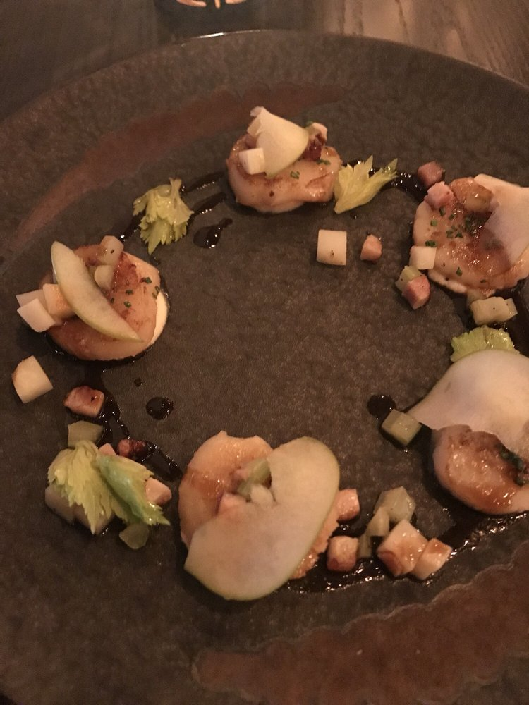Pan Seared Scallops With Apple And Celery Roots Yelp