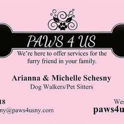 Paws 4 us get quote dog walkers yonkers ny phone number yelp photo of paws 4 us yonkers ny united states our business card reheart Choice Image