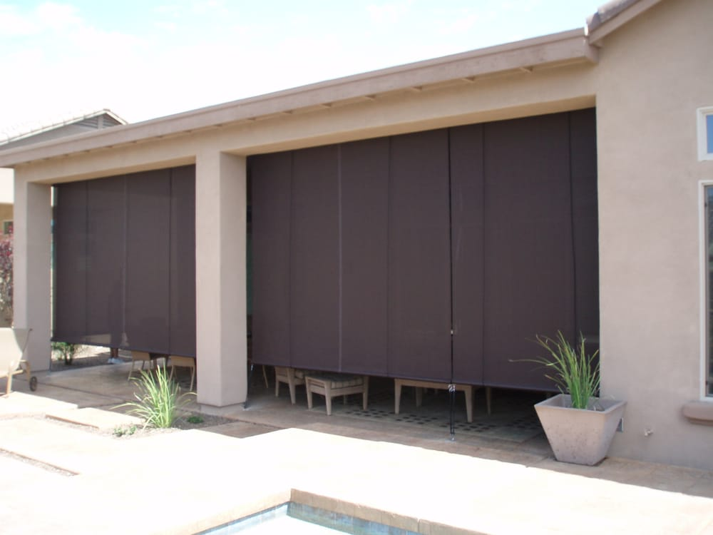 photo of phoenix az united states patio roll up shades with - Roll Up Shades
