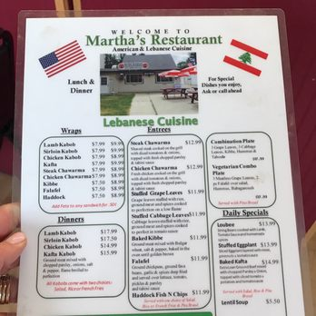 Martha S Restaurant Hampton Nh Menu