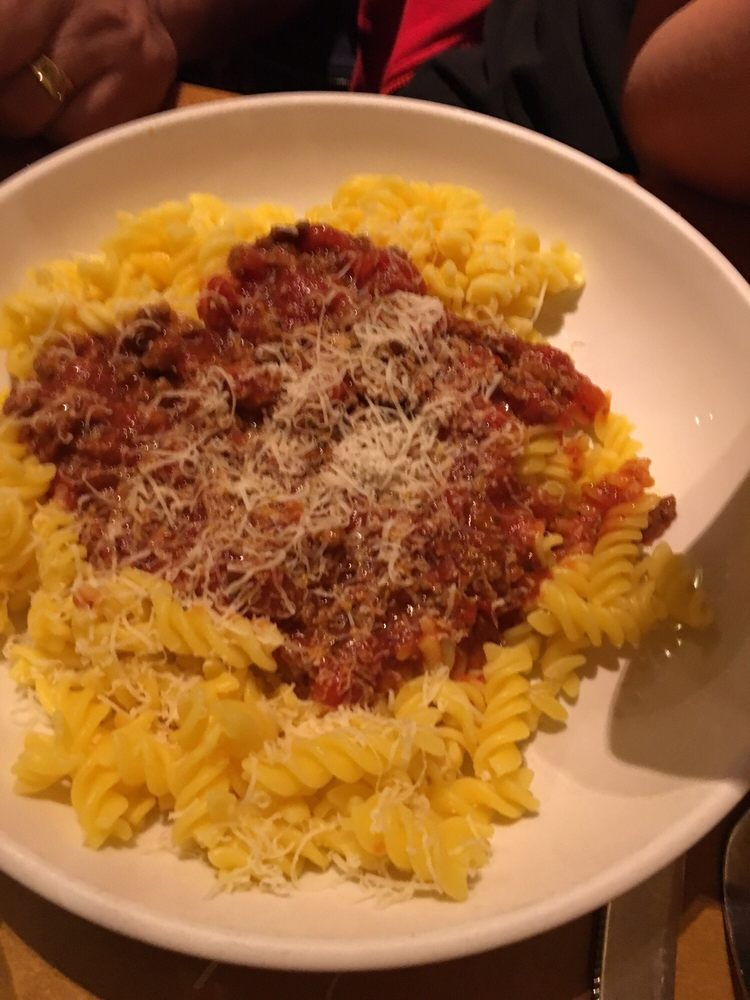 Gluten free rotini with meat sauce from create your own - Gluten free menu at olive garden ...