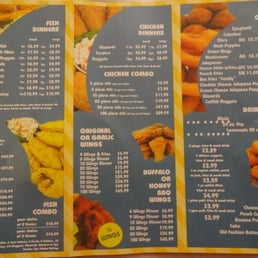 Sharks fish chicken chicken wings 5653 n 76th st for Alaska fish and chicken menu
