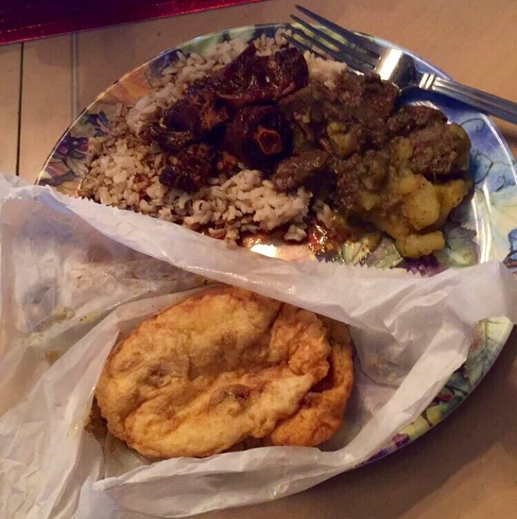 Curry beef and potatoes doubles and oxtail with rice yelp for Ajanta indian cuisine st petersburg