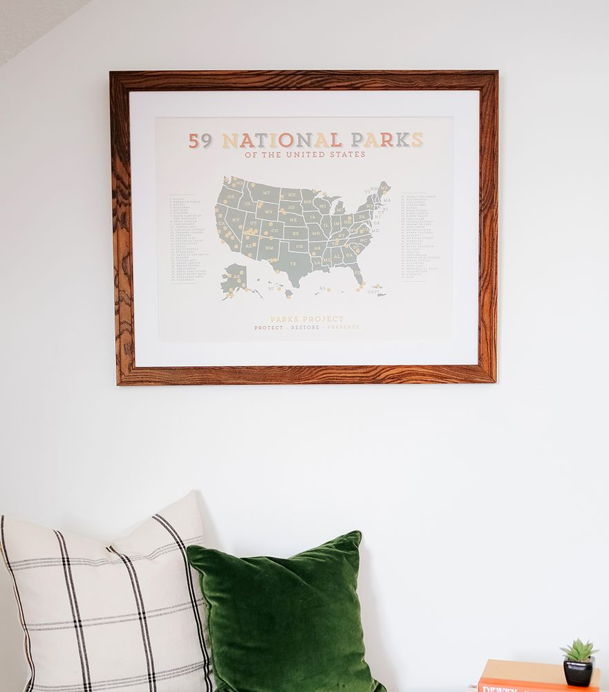 Custom walnut frame with mat from Art To Frames - Yelp