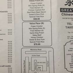 Great Kitchen Chinese Pearsall Menu