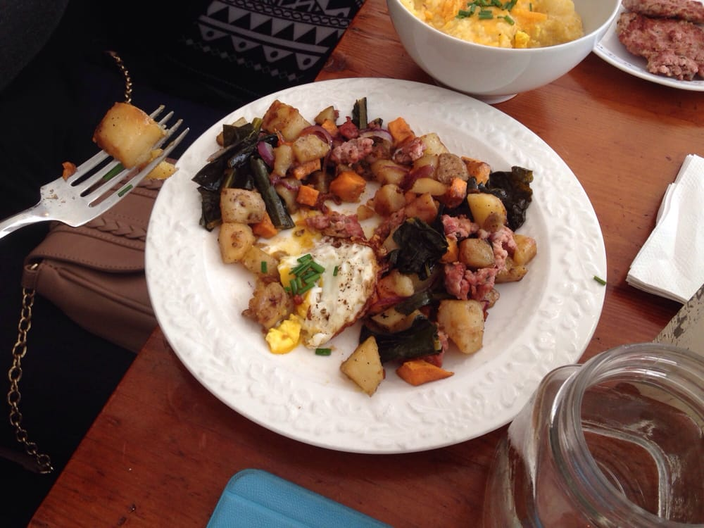 One of the best breakfast ever sausage hash yum yelp for Little spoon cafe