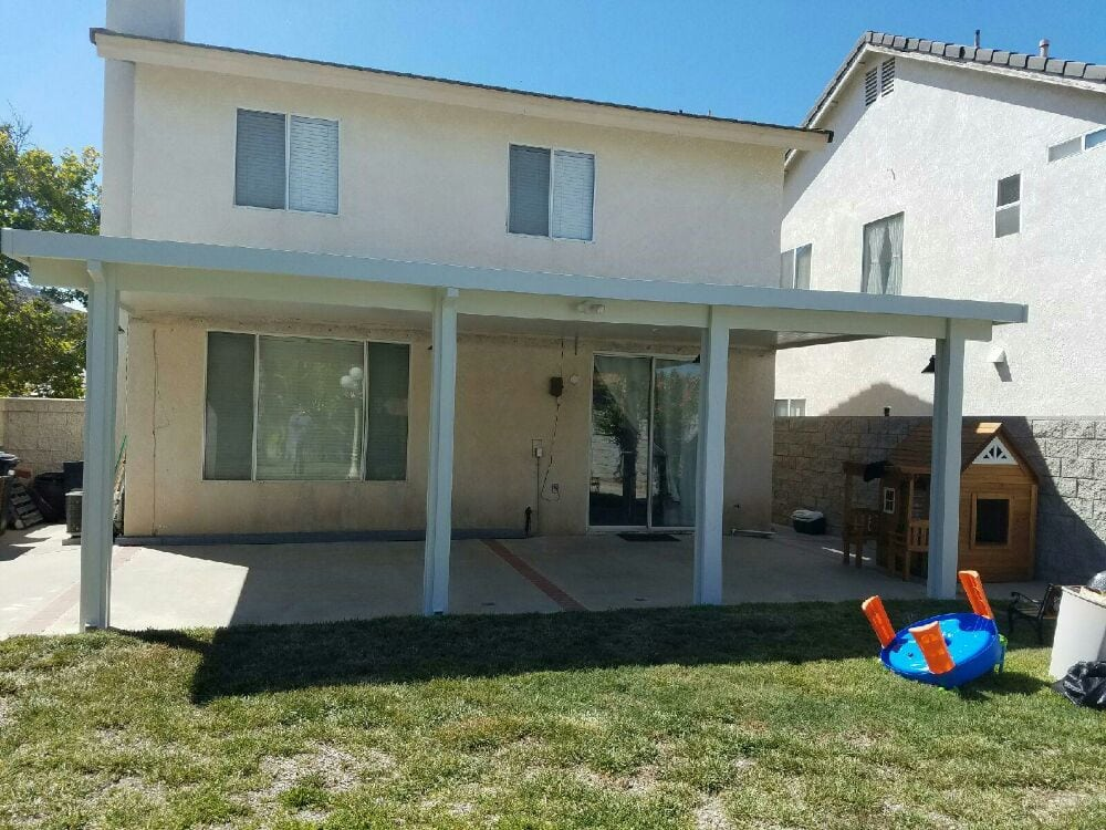 14x26 Solid Top Non Insulated Patio Cover Located In Chino
